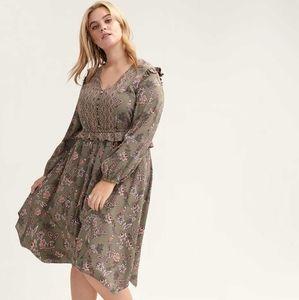 Amazing green paisley dress size 12/14